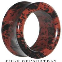 "7/8"" Mahogany Obsidian Natural Stone Tunnel 