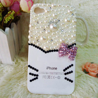 iPhone4G Hello Kitty Pearl Valentines Case - GULLEITRUSTMART.COM