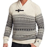 BNM Corporation - Amazon.com: Nautica Men&#x27;s Shawl Collar Fairisle, Beige, Large: Clothing