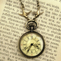 $32 Brass Pocket Watch Necklace number 10 by ragtrader on Etsy