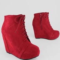 lace-up wedge bootie - GoJane.com