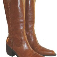 MIA Brown Soft Leather Western Style Boots