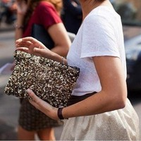Sassy Sequin Clutch – 4 Color Options