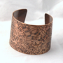 Downtown Detroit Map Copper Cuff by fugudesigns on Etsy