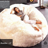 Natural Sheepskin Beanbag Chairs | CelebTx