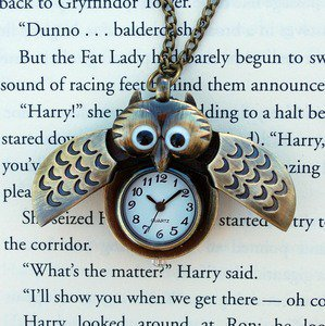 Winged Owl Watch Necklace | Wicked Clothes