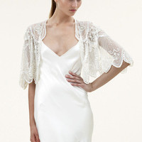 Jenny Packham - Luxury Design House. Bridal and Ready to Wear Dresses & Accessories - Elsa Embroidered Bridal Jacket