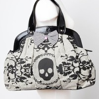 Iron Fist Lacey Days Handbag - Ivory - Punk.com