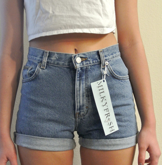 Cuffed High Waisted Shorts - The Else