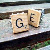 Scrabble Tile Cuff Links  Choose Your Own Letters