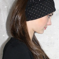 Studded in Style Headwrap in Black