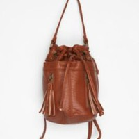 UrbanOutfitters.com &gt; Ecote Double-Zip Tassel Bucket Bag