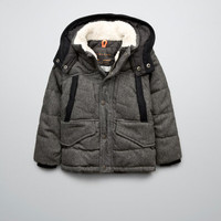 PADDED JACKET WITH HOOD - Coats - Boy (2-14 years) - Kids - ZARA United States