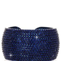 VANITY HER ADELIA Blue Crystal Bangle - ACCESSORIES | JEWELRY | Bracelets | PRET-A-BEAUTE.COM