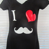 I love mustache shirt  Available in infant through adult sizes