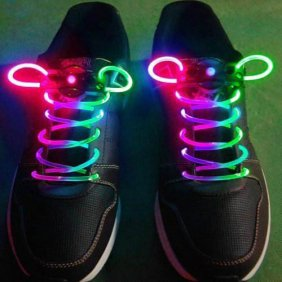 Athletic Children Ultra Bright LED Luminescent Shoelace Pink&Green [#00300027] - US$4.10 : Amazplus.com