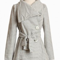 avalanche bay houndstooth coat at ShopRuche.com, Vintage Inspired Clothing, Affordable Clothes, Eco friendly Fashion