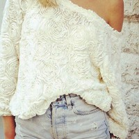 Rose floral Sweater Pullover