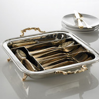 Beaded-Edge Flatware Caddy