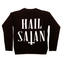 Hail Satan Knit Sweatshirt | KILL STAR