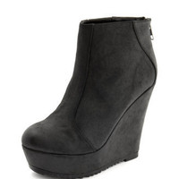 Charlotte Russe - Distressed Wedge Ankle Bootie