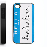 Apple iPhone 4 4s 4G Hello I&#x27;m A Belieber Justin by CaseSwag