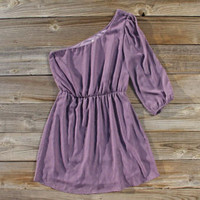 Plum Drop Party Dress, Sweet Women's Bohemian Clothing