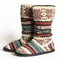 Rocket Dog Starryan knitted boots at ShopRuche.com, Vintage Inspired Clothing, Affordable Clothes, Eco friendly Fashion
