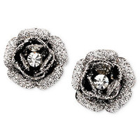 Betsey Johnson Earrings, Rose Bud Stud - Fashion Jewelry - Jewelry &amp; Watches - Macy&#x27;s