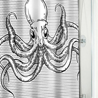 Octopus Shower Curtain $19.00