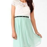 Textured Lace Sweetheart Dress | FOREVER 21 - 2031556737