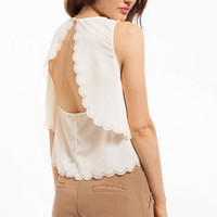 Double Scalloped Tank $26