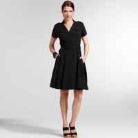 Short-sleeve Wrap Dress - Dresses - Kenneth Cole