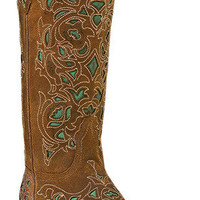 Women's Cowboy Boots Laredo Miranda Medium (B,M) Narrow Snip Toe Brown 52102
