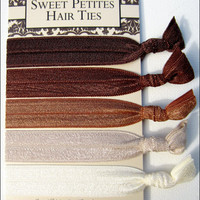 Elastic Hair Ties - Chocolate Fade .. on Luulla