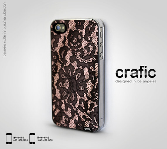 Blush Lace iPhone Case - Fits iPhone 4 and iphone 4S