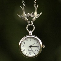 $36 Victorian Watch Pendant Necklace by ragtrader on Etsy