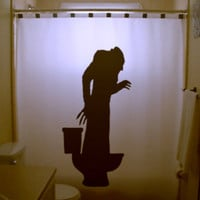 Toilet Nosferatu Shower Curtain Bathroom Decor Bath Kids Humor Symphony of Horror 1922 Vampire Dracula