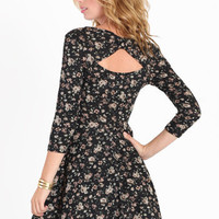 Bella Luna Floral Cutout Dress - $36.00 : ThreadSence.com, Your Spot For Indie Clothing  Indie Urban Culture