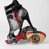 Iron Fist Sweet Skull O Mine Bootie - Black (Vegan) - Punk.com