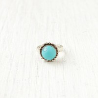 Free People Turquoise Round Ring