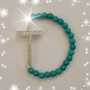 Turquoise Cross Bracelet
