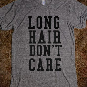 Long Hair Don't Care-Unisex Athletic Grey T-Shirt