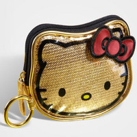 Hello Kitty Coin Purse | Gold Sequin Clutch | fredflare.com