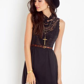 Emme Crochet Dress - Black