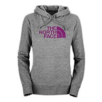 Amazon.com: The North Face Half Dome Pullover Hoodie - Women's Heather Grey/Premiere Purple, M: Clothing