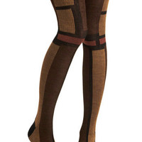 Browns-tone and Mood Tights | Mod Retro Vintage Tights | ModCloth.com