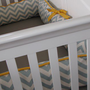 Chevron Custom Crib Bumper Boy or Girl YOU PICK by tuftlovefabric