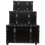 The College Girl Dorm Trunk - Black - 3 Piece Set