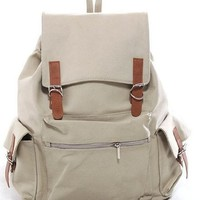 Off-white Canvas Backpack School Bag Super Cute for School